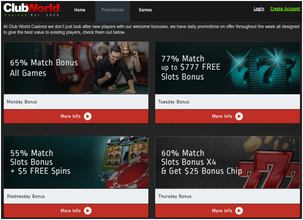 Club World Casino Promotions