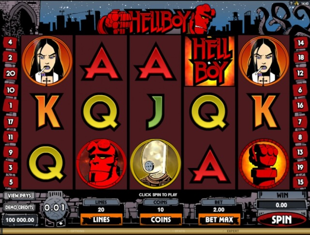 Hell Boy slot game symbols