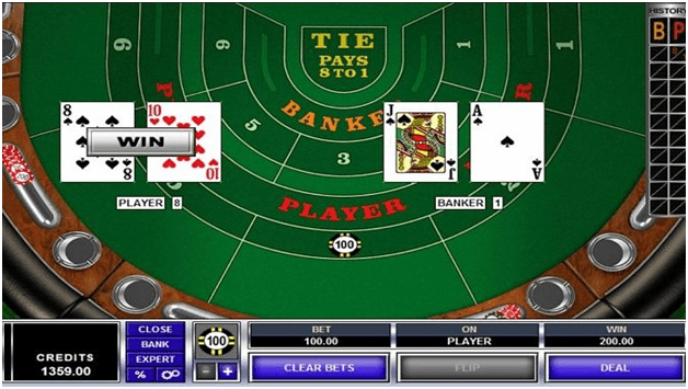 High Limit Baccarat rules