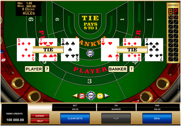 How to play highlimit Baccarat