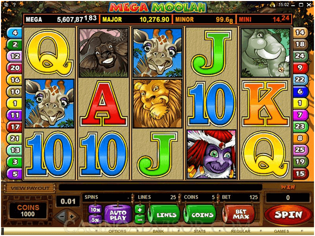 Mega Moolah - Game Symbols