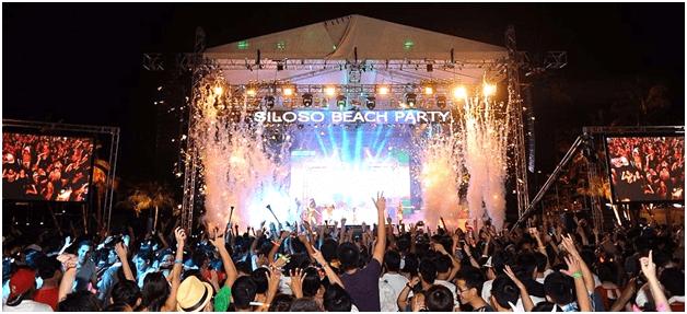 Siloso Beach party