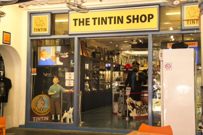 Singapore is one of the few countries that have dedicated Tintin shops.