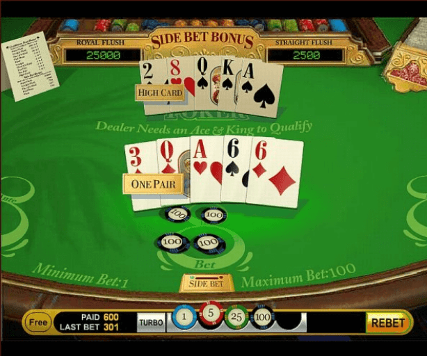 Singapore stud poker