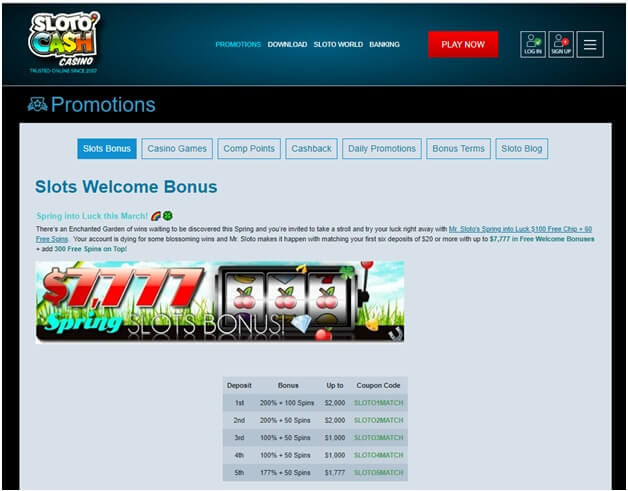 Slotocash casino bonus singapore play