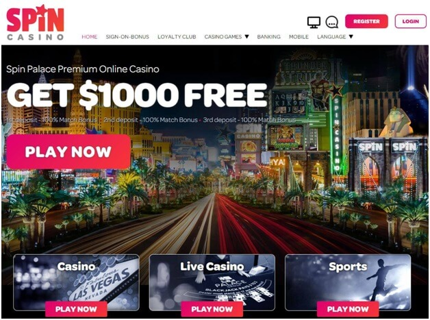Spin Palace casino bonus offers Singapore play
