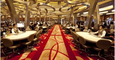 Gaming Floor at Marina Bay Sands Casino SIngapore