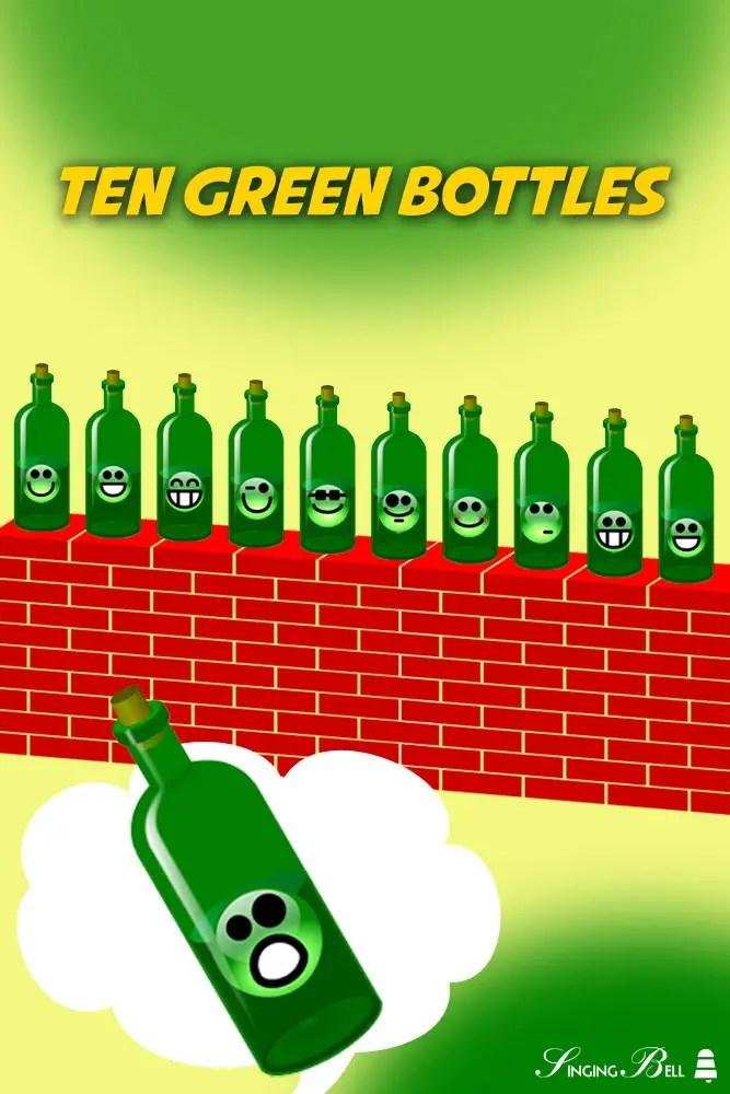 Ten Green Bottles Free Nursery Rhymes