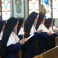 The Sisters chant the Te Deum at the close of their vows ceremonies
