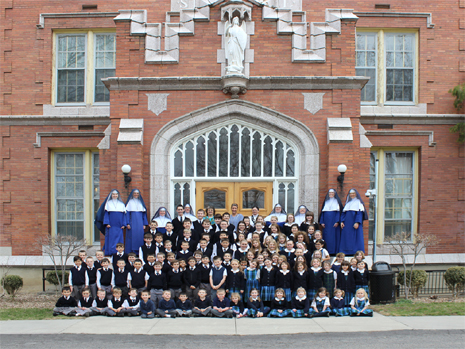 St. Michael's Academy grade school students