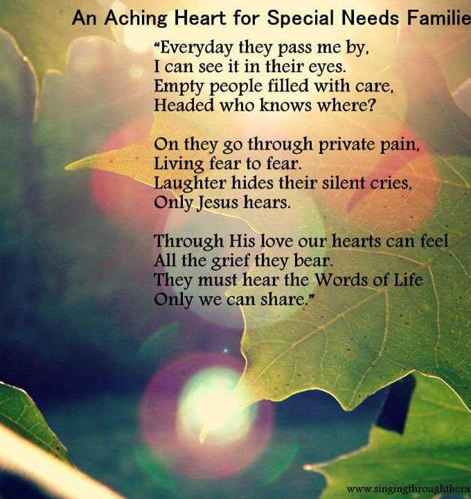 An Aching Heart for Special Needs Families