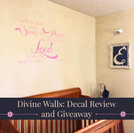 Divine Walls: Decal Review and Giveaway