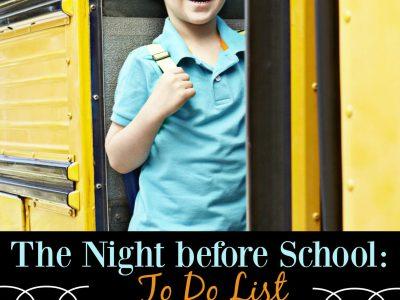 Night Before School