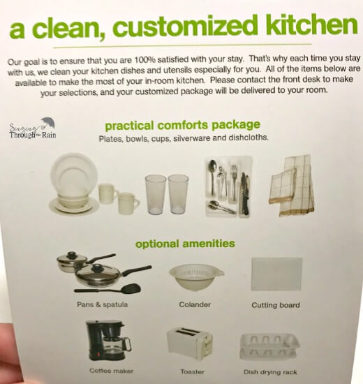 Extended Stay America Customized Kitchen
