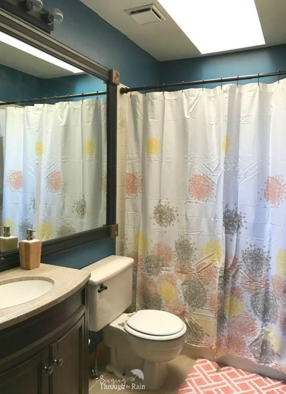 Painted Blue Bathroom
