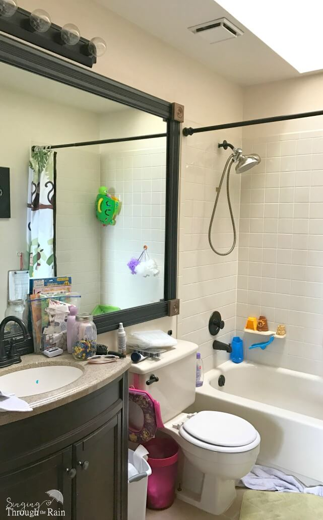 ... Our Little Bathroom Definitely Needed A Spring Refresh, So We Headed To  Our Local Loweu0027s To Pick Out Supplies And Most Importantly U2013 PAINT!
