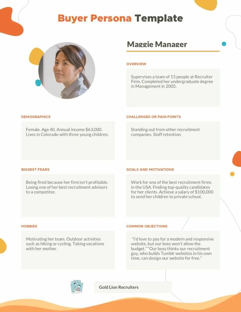 Acquirente Persona Maggie Manager 1