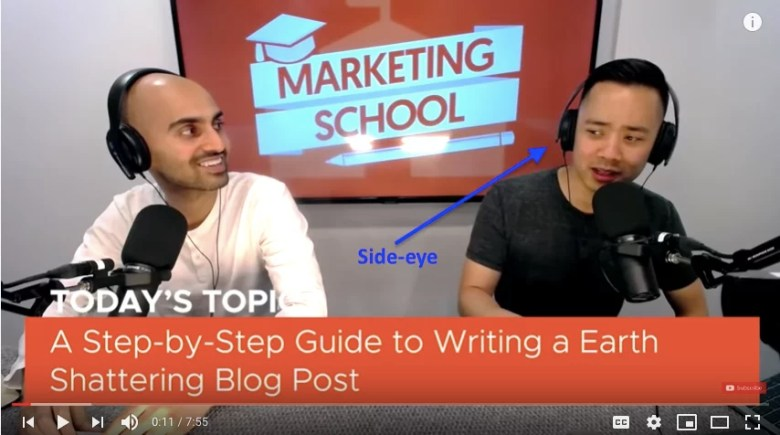 Tecnica del microfono della scuola di marketing