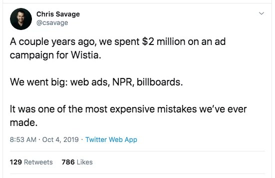 Chris Savage Tweet