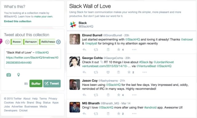 Slack Wall of Love