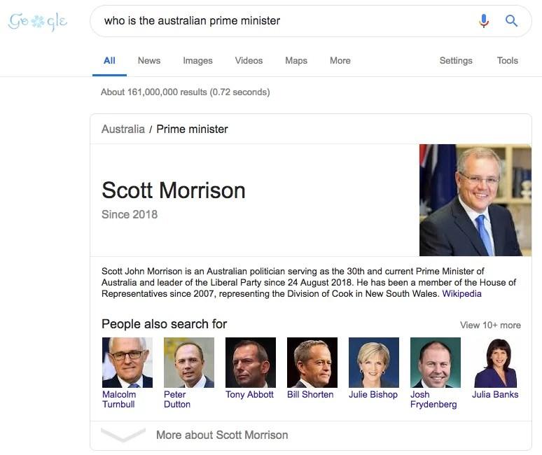 chi è il primo ministro australiano 1