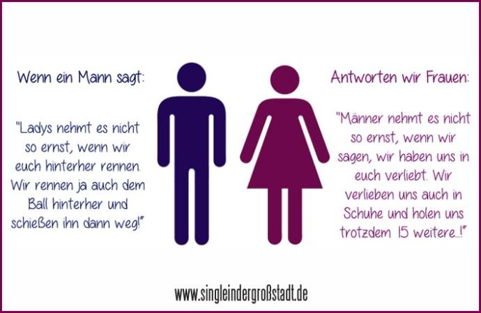 Spruch: Männer & Frauen - gut gekontert ;) - Single in der