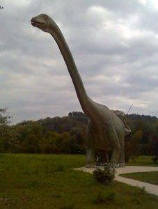 Dinosaur in a Paris date venue