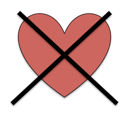 X-ed out Heart