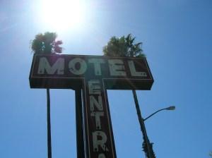 Hotel Entrance sign