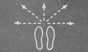 Life is a choice - footprints in different directions