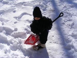 Kaleb Shoveling Snow (2011)