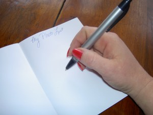 Write for us! Pen and paper