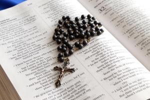 Catholic Bible and Rosary