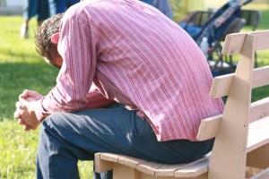 Divorced Catholic? Praying alone on a park bench