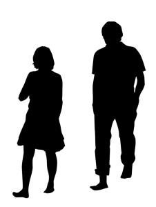 Marriage problems - silhouettes