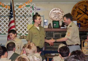 Troy - Receiving Merit Badges