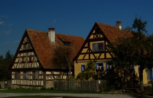 German tudor house