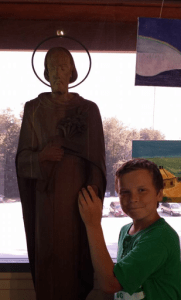 One of my favorites. Noah posed with a few of the saints, but after I took the photo of Saint Joseph, he asked if I could take another so he could hold his hand. Love my boys! Thank you Saint Joseph - role model. Thank you Father.