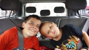 Boys in the car