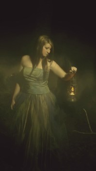 Girl with a lamp