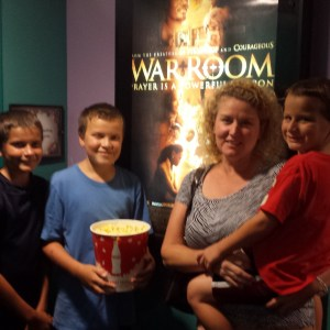 War Room Movie - my boys and me