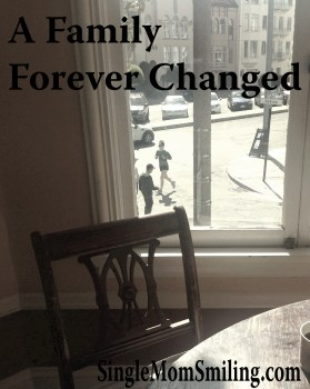 Empty chair and table - Single Mom A Family Forever Changed