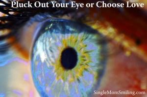 Single Mom Divorce Post - Pluck Out YourEye or Choose Love - Eyeball