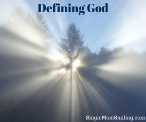 Defining God - Sun through trees