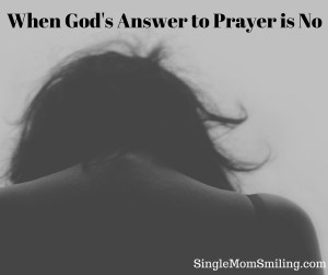 God's Answer to Prayer is No Gray Shadows, Woman's Back/Head Down