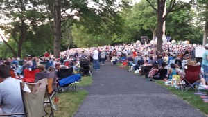 Crowds on July 4th at West Point, Trophy Point