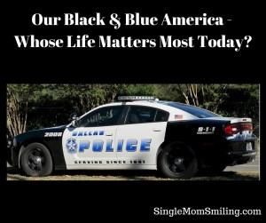 Black & Blue America - Life Matters - Dallas Police car