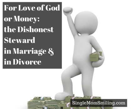 Man loving money