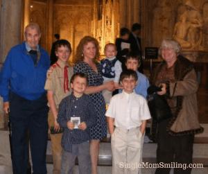 Grandpa, Meema, & Us Saint Patrick's Cathedral 2012ish