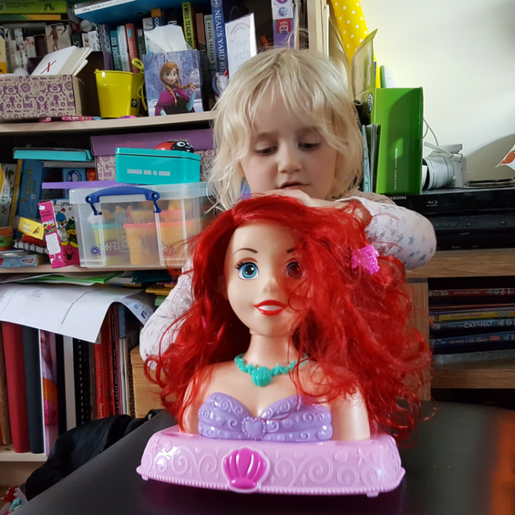 Review Disney Princess Ariel Bath Styling Head Single Mother Ahoy
